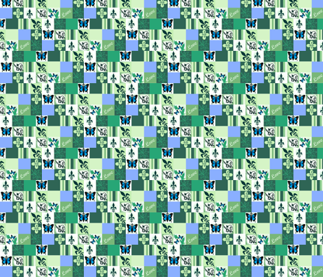 Patch - Mothers Garden fabric by paragonstudios on Spoonflower - custom fabric