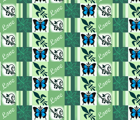 Leaf chain Mothers Garden fabric by paragonstudios on Spoonflower - custom fabric