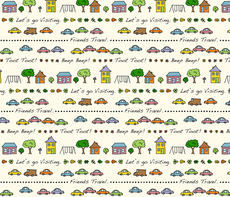 Let's Go Visiting fabric by katherinedonaldson on Spoonflower - custom fabric