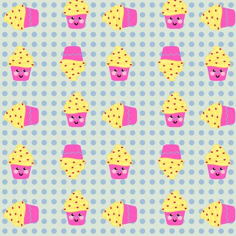 LiL'  Happy Cuppycake Party!  - © PinkSodaPop 4ComputerHeaven.com fabric by pinksodapop on Spoonflower - custom fabric