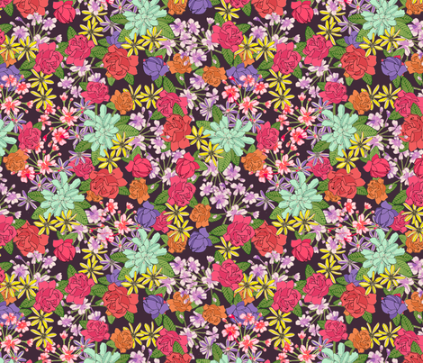 Autumn Floral fabric by lydia_meiying on Spoonflower - custom fabric
