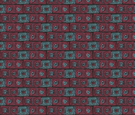Five_Square_Circles fabric by not-enough-time on Spoonflower - custom fabric