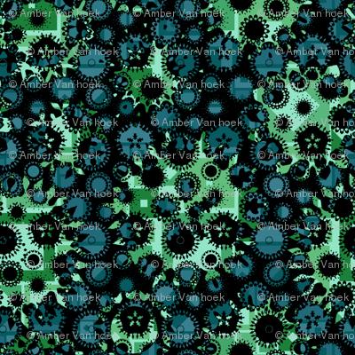 contrast blue-green