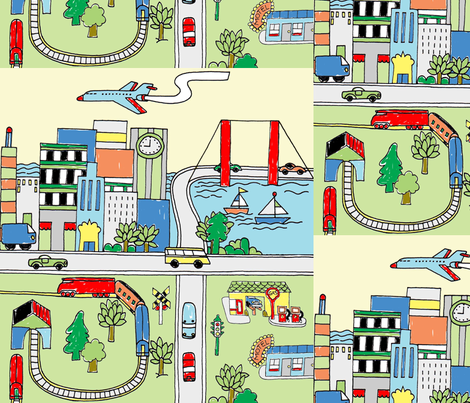Let'sJustGo fabric by patters on Spoonflower - custom fabric