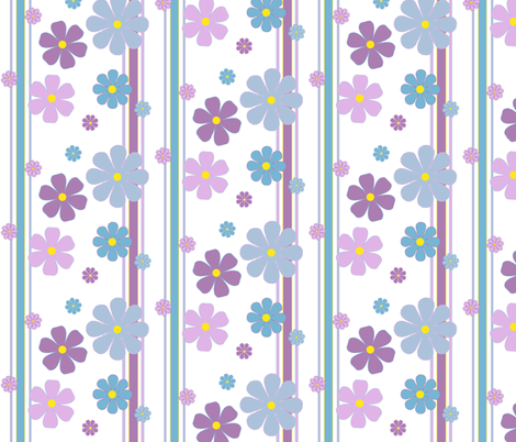 summerflower_stripes fabric by oranshpeel on Spoonflower - custom fabric