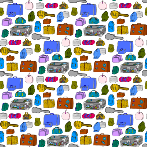 My_bags_are_packed_I'm_ready_to_go fabric by victorialasher on Spoonflower - custom fabric