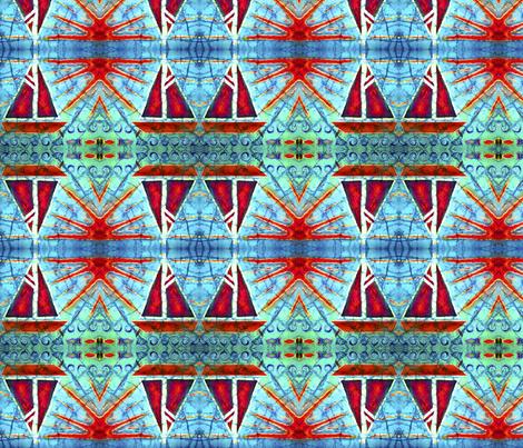 SAILING by SUE DUDA fabric by suedudadesigns on Spoonflower - custom fabric