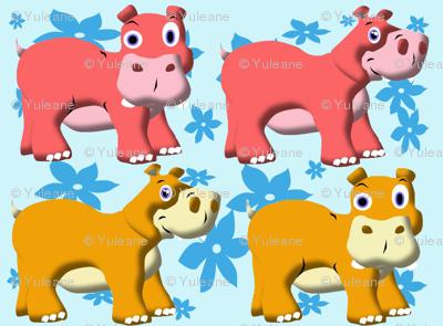 Funny Hippos