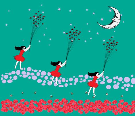 Travel by Lady bug fabric by gurumania on Spoonflower - custom fabric