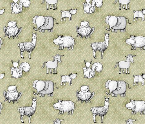 Animal World fabric by renule on Spoonflower - custom fabric