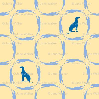 Blue Greyhounds GG5 ©2010 by Jane Walker