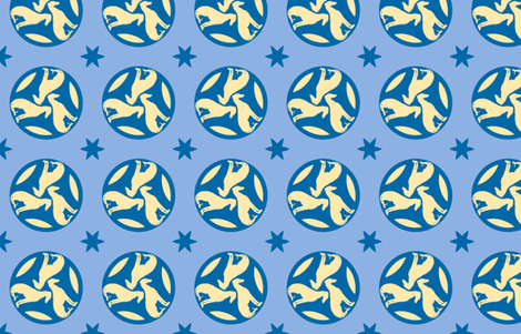 Blue Greyhounds GG3 ©2010 by Jane Walker fabric by artbyjanewalker on Spoonflower - custom fabric