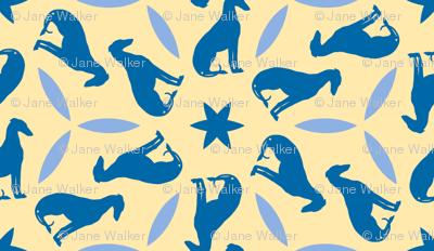 Blue Greyhounds GG2 ©2010 by Jane Walker