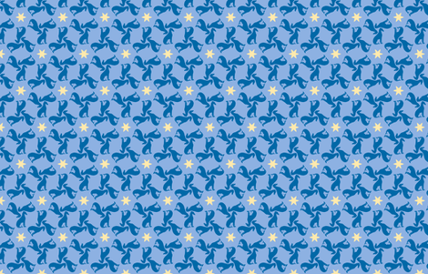 Blue Greyhounds GG1 ©2010 by Jane Walker fabric by artbyjanewalker on Spoonflower - custom fabric