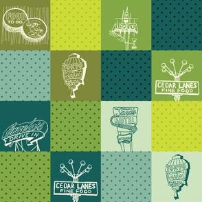 Fresno Vintage Signs (green)