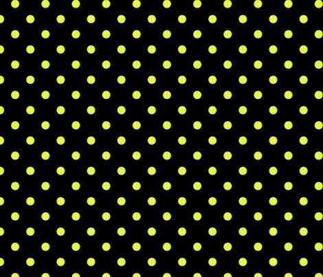 Tennis Ball Dot Black fabric by freshlypieced on Spoonflower - custom fabric