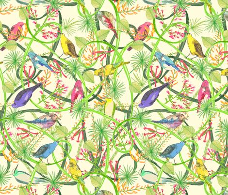 Vines fabric by lydia_meiying on Spoonflower - custom fabric