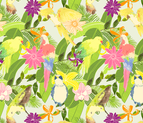 Tropical fabric by lydia_meiying on Spoonflower - custom fabric
