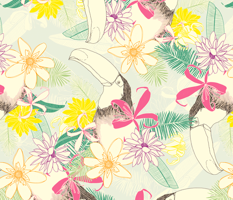 Toucan fabric by lydia_meiying on Spoonflower - custom fabric