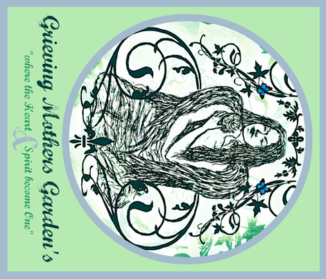 CREST- Grieving Mothers Garden's fabric by paragonstudios on Spoonflower - custom fabric