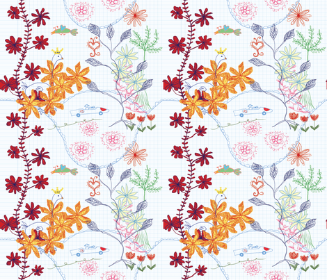 a travell to nature fabric by shiny on Spoonflower - custom fabric