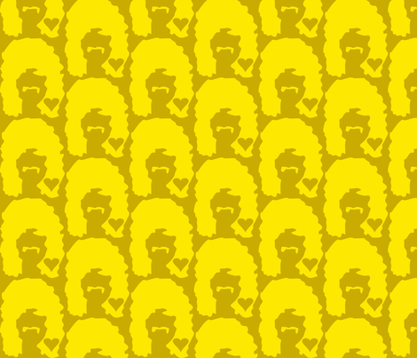 Man Love in Mustard fabric by dolphinandcondor on Spoonflower - custom fabric