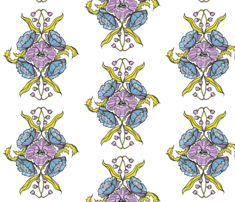 summer-bouquet fabric by t_buck on Spoonflower - custom fabric