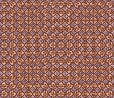 orange and purple pattern fabric by suziedesign on Spoonflower - custom fabric