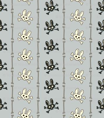 Bunny Goth Bone Stripe Blue