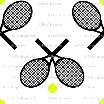 Tennis Racquets Black