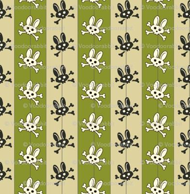 Bunny Goth Pinstripe Green