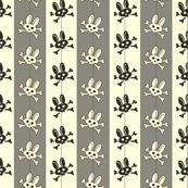 Bunny Goth Pinstripe Grey