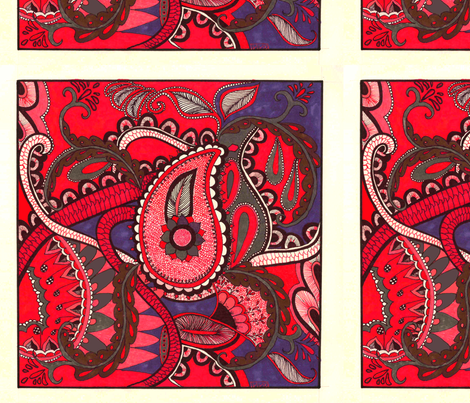 Paisley_Octopus_picnik fabric by lenoralb on Spoonflower - custom fabric
