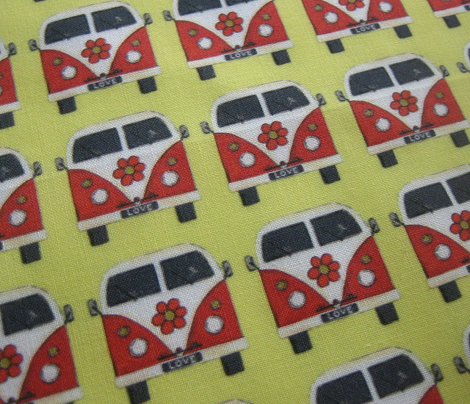 yellow flower camper van