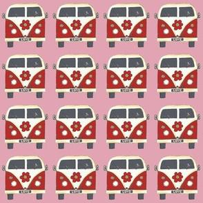 pink flower camper van