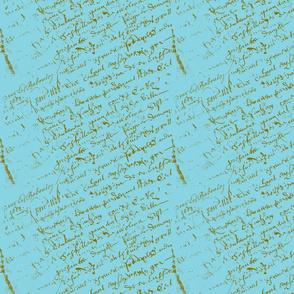French Script Aqua