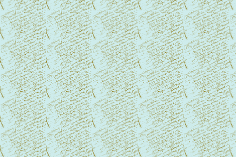 French Script on Paris Blue  fabric by karenharveycox on Spoonflower - custom fabric