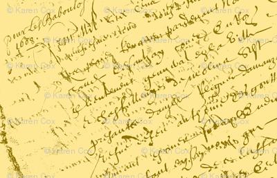 French Script Lemon Sherbet