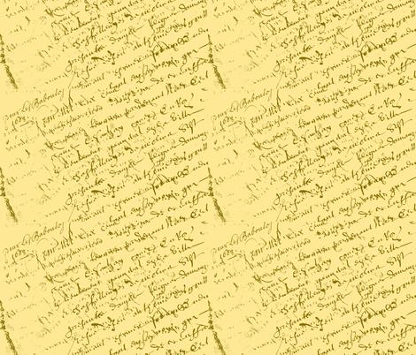 French Script Lemon Sherbet fabric by karenharveycox on Spoonflower - custom fabric