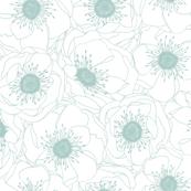 White Anemones - ROBIN'S EGG