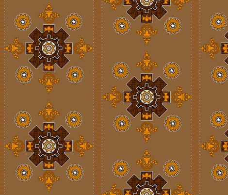Steampunk Hanky 2 fabric by jadegordon on Spoonflower - custom fabric
