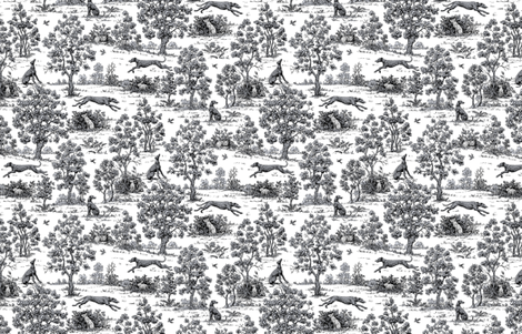 Black Greyhound Toile ©2010 by Jane Walker fabric by artbyjanewalker on Spoonflower - custom fabric