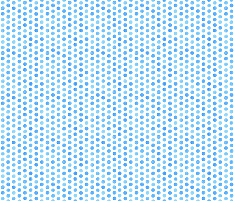 Small Watercolor Dots: Cobalt Blue fabric by nadiahassan on Spoonflower - custom fabric