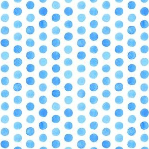 Small Watercolor Dots: Cobalt Blue