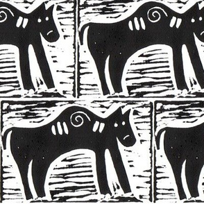 Cow Block Print