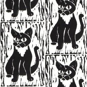 Cat Block Print 2