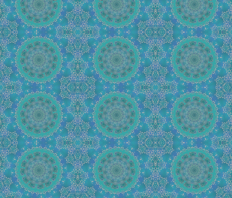 blue mirror fabric by oranshpeel on Spoonflower - custom fabric