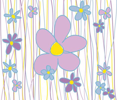 flowers fabric by socreate_uk on Spoonflower - custom fabric