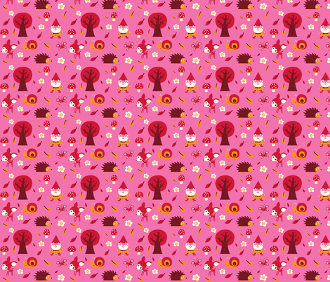 Forest in pink fabric by bora on Spoonflower - custom fabric