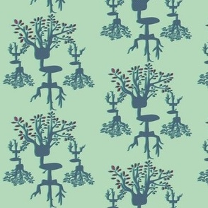 Office Chair Tree - Aqua